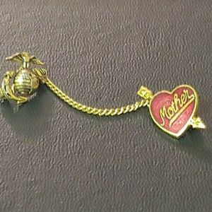 Jewelry - Gold filled USMC sweetheart mother pin